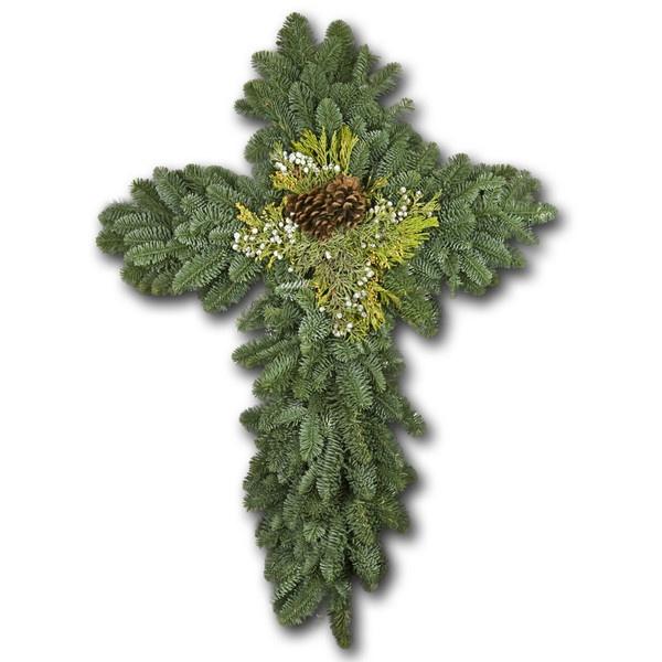 S & J Wreaths — Evergreen Cross