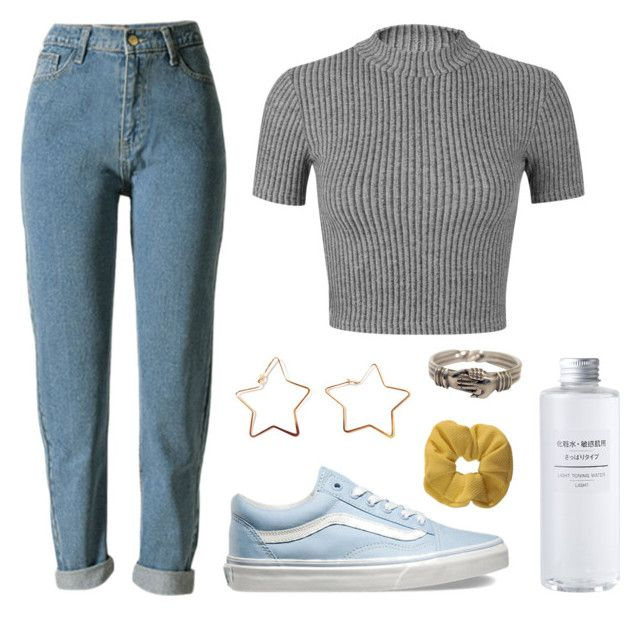 rachel by soym on Polyvore featuring polyvore, fashion, style, Miss Selfridge, WithChic, Vans, Topshop, Muji and clothing