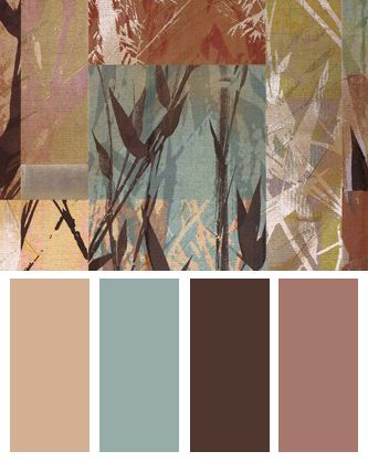 Bamboo Sections color Palette