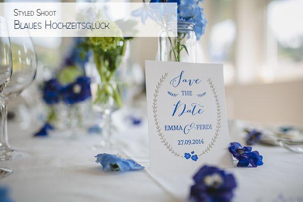 Blaues Hochzeitskonzept Frl. K sagt Ja