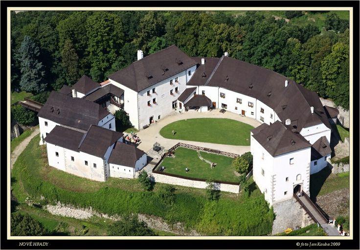 hrad Nové Hrady letecká fotografie