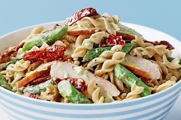 Fusilli with smoked chicken, asparagus and pesto main image