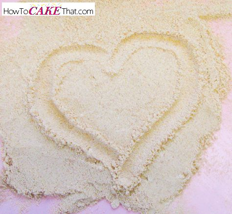 edible sand recipe for cake decoration
