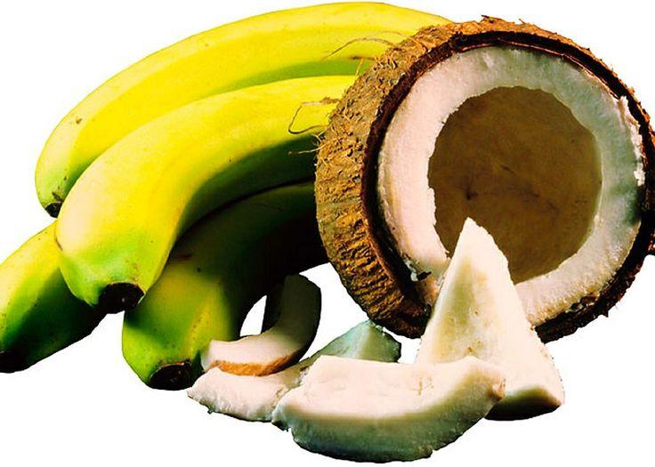 Γρανίτα καρύδα-μπανάνα