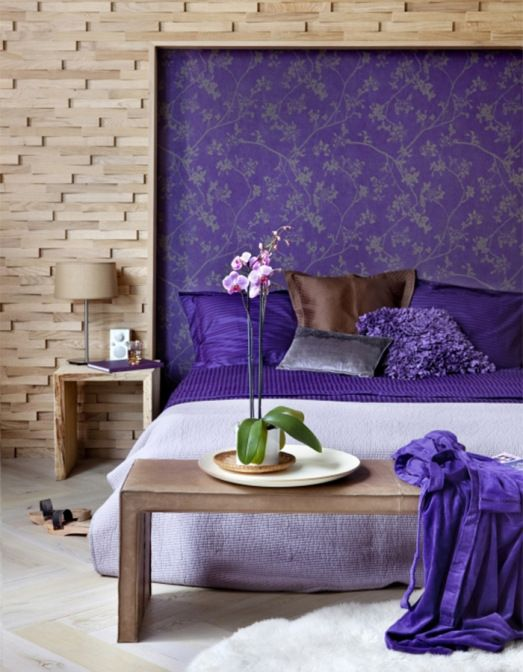 44 best images about elegant floral wallpaper walls for Purple bedroom wallpaper