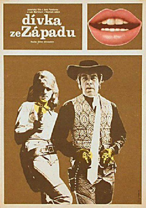Cat Ballou 1975 Czech A3 Poster