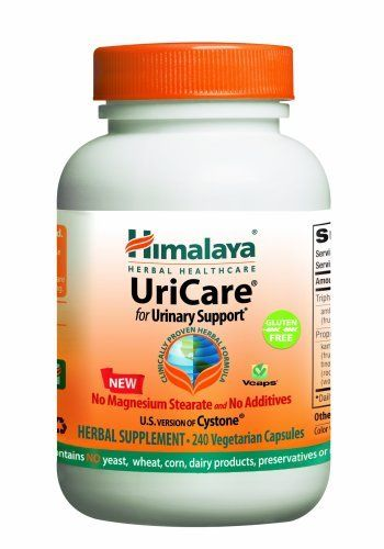 Himalaya Herbal Healthcare UriCare/Cystone, Urinary Comfort, 240 Vcaps, 840mg by Himalaya. Save 40 Off!. $25.46. UriCare® Econo (internationally known as Cystone® Econo) � 180 Vcaps � Unfortunately, sometimes nature doesn�t call by itself. Thankfully, there�s an herbal formulation proven by 79 published clinical trials to support urinary tract function � UriCare. Taken daily, UriCare supports the kidneys and urinary tract as they do their important work. UriCare supp...