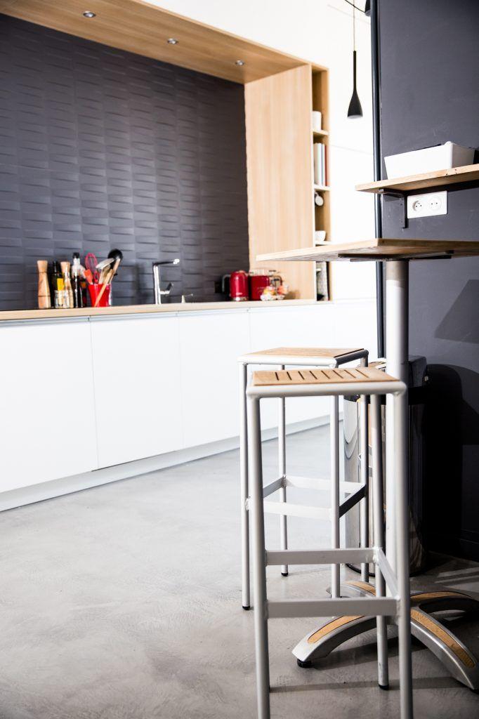 Cuisine blanc niche bois en 2019 cuisine blanche niche - Cuisine en bois blanc ...