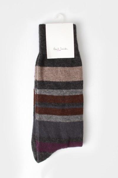 Paul Smith Lamora Stripe Socks Grey