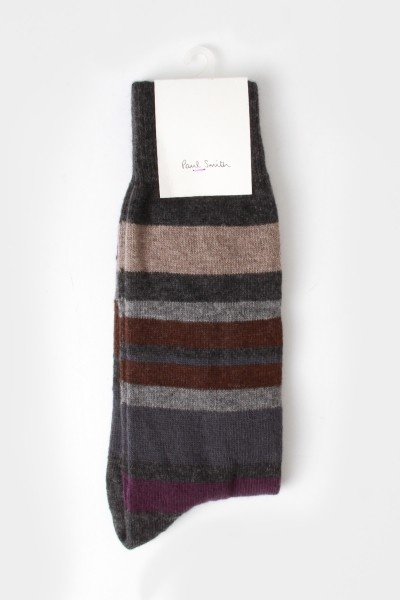 Paul Smith Lamora Stripe Socks Grey