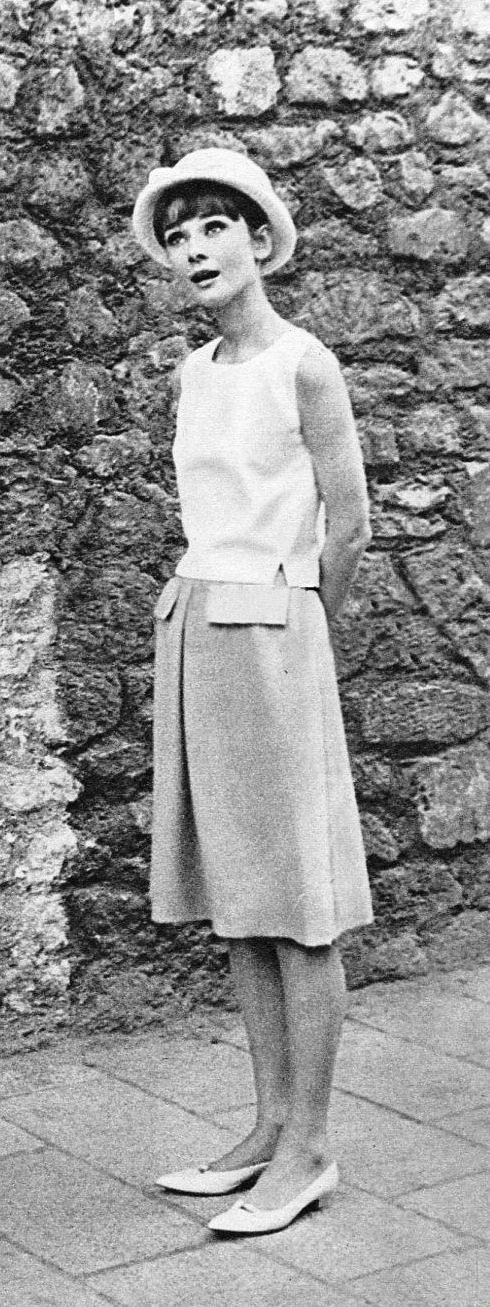 Audrey Hepburn c. 1962 on the set of Paris When it Sizzles