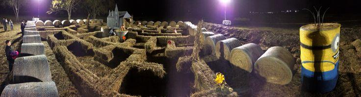 Portable parkour park - hay maze in Tulsa OK