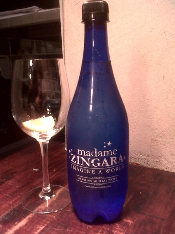 Madame Zingara's very own branded water bottle