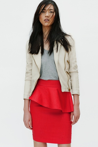 Red pencil skirt from Zara...