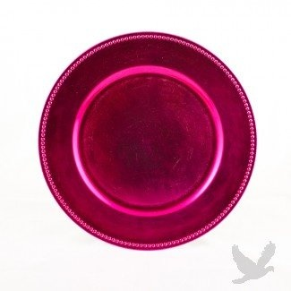 hot pink charger plates bulk set of 24 fancy plates