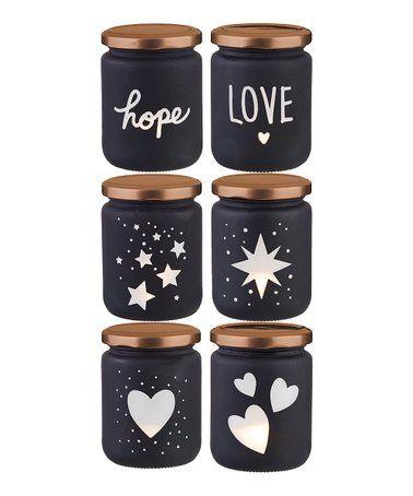 Love this Black LED Light-Up Mason Jars - Set of Six on #zulily! #zulilyfinds