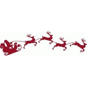 The 25+ best Santa sleigh silhouette ideas on Pinterest   Reindeer ...