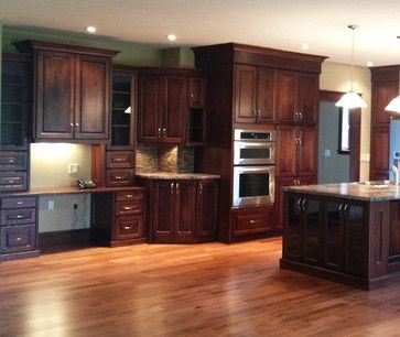 open concept cherry kitchen traditional kitchen toronto by hawkins cabinetry and design