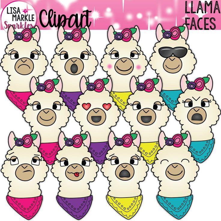 Llama Clipart Emoji Clipart Animal Clipart | Etsy in 2020 ...