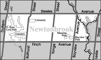 Newtonbrook is located at the north end of the City of Toronto. It is situated between the east and west branches of the Don River Valley, which serve to provide an attractive natural backdrop for this neighbourhood in addition to providing residents with plenty of recreational opportunities.