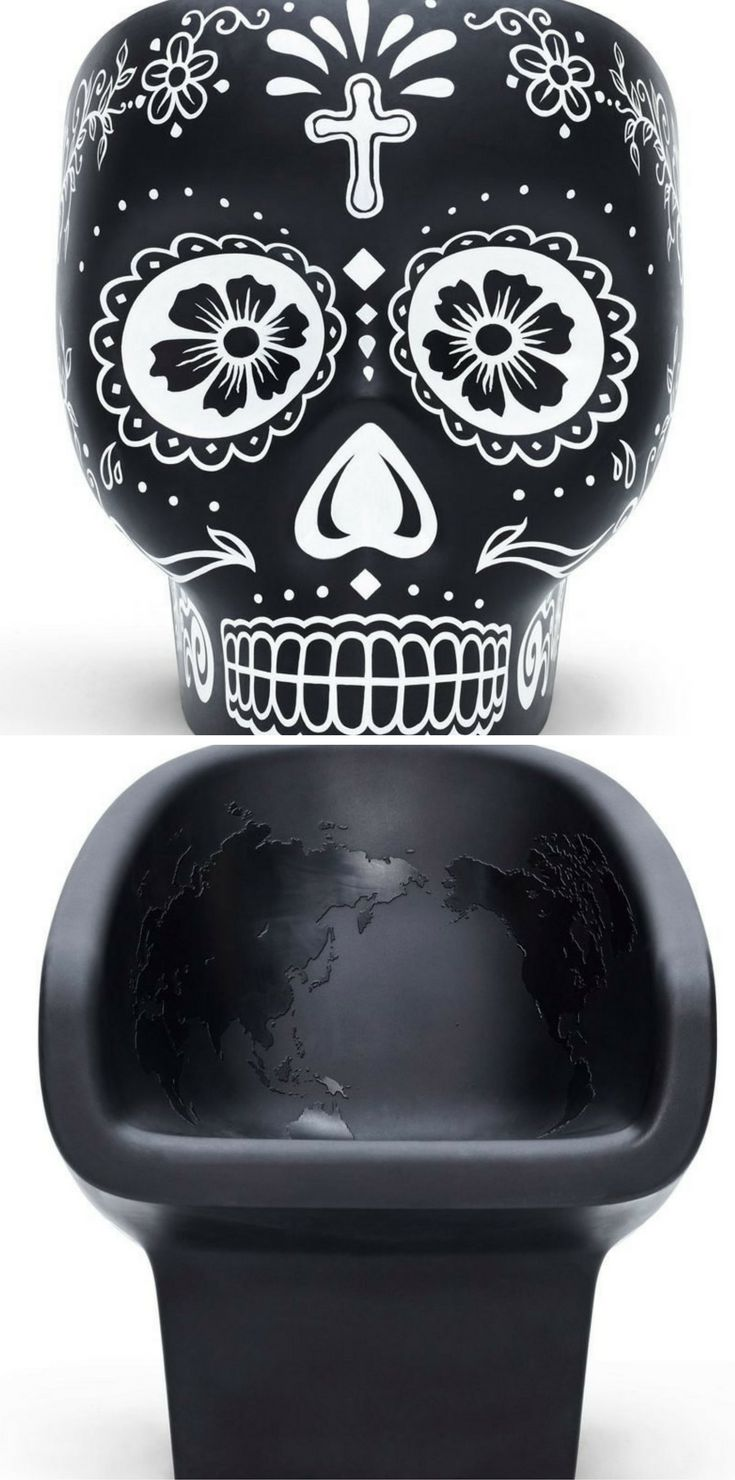 Black skull chair - Fabio Novembre Updates Skull Shaped Chair For Mexico S Day Of The Dead