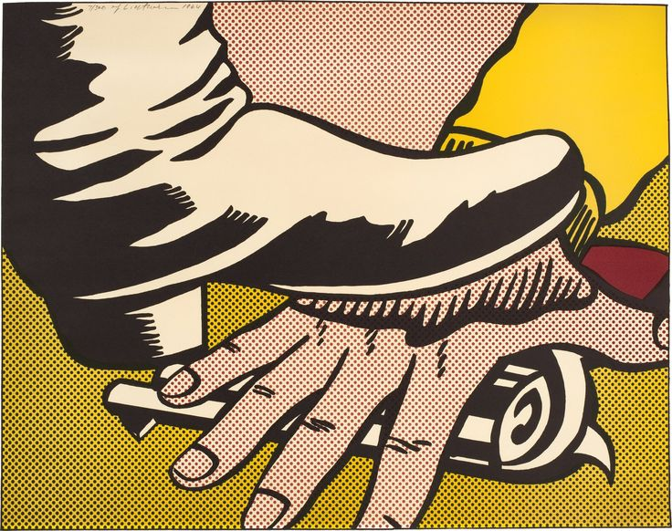 LICHTENSTEIN Foot and Hand (C. II.4) 1964offset lithograph in colors  on wove paperEdition of 300L. 16½ x 20 7/8 in. (419 x 530 mm.)S. 17 1/8 x 21 3/8 in. (435 x 543 mm.) Published by Leo Castelli Gallery, New YorkSigned