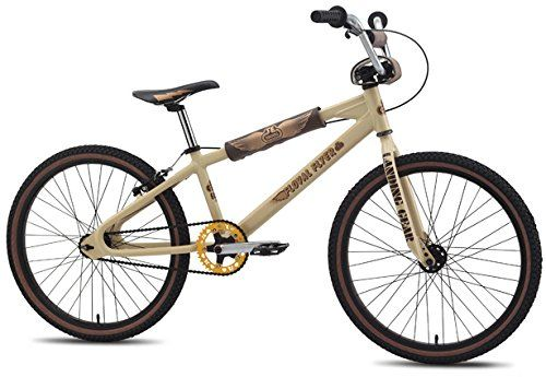 SE Floval Flyer Looptail 24 BMX Bike Tan 24in Mens – '14   	  	    	  	$ 529.90 BMX Bikes Product Features COLOR(S) Tan FRAME New 2014 Frame Design, 6066 Aluminum Floval Tubing, Looptail Rear End, Seatstays Wrap, Retro Diamond Shape Dropouts, Limited Edition & Individually Numbered FORK Full Cr-Mo Landing Gear CRANKSET SE 3-pc Cr-Mo, Closed-End Invisibolt, 180mm, Sealed Bearing American BB, 39T Alloy SE Bubble Sprocket PEDALS X-Pedo Low-profile […]  http://www.bicyclessale.com/..