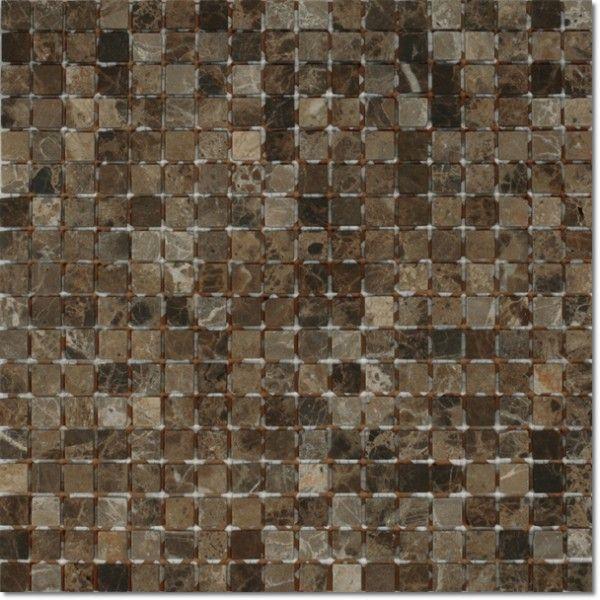 Dell'Arte - mozaiki dekoracyjne Marble Black Mat 15 (plaster 30x30)