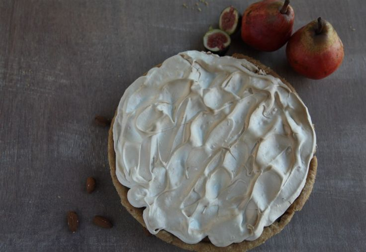 Autumn Recipe Competition Winner with their recipe of Pear, Fig and Ginger Meringue Flan.