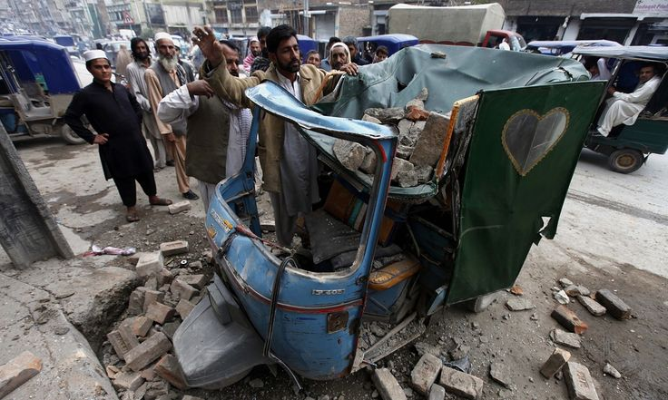 Early reports suggest extensive damage in mountainous areas from powerful quake also felt in Pakistan and India