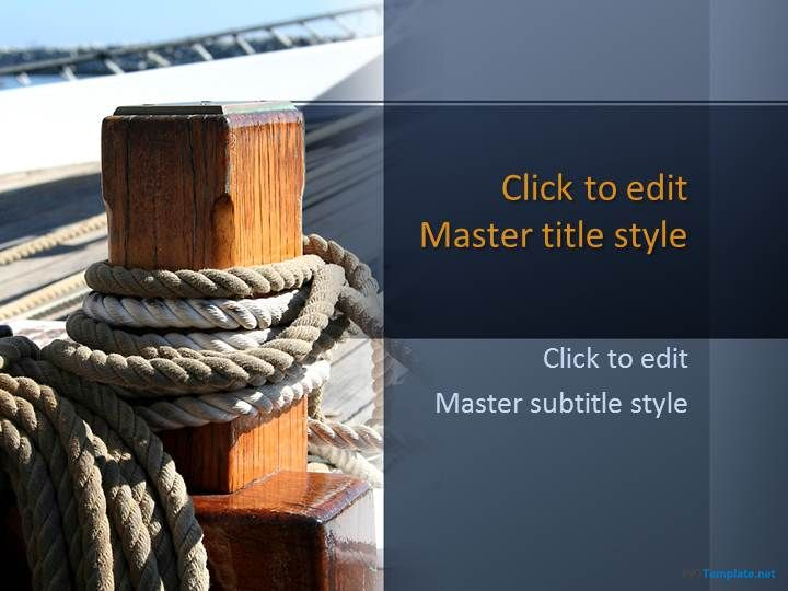 Free Chains Ropes and Anchors PPT Template