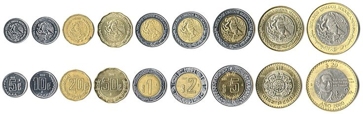 Mexican Peso Coins Value   Mexican coins