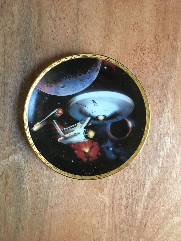 Star Trek The Voyagers USS Enterprise NCC 1701 - 8 1/4 Inch Collector Plate  | eBay