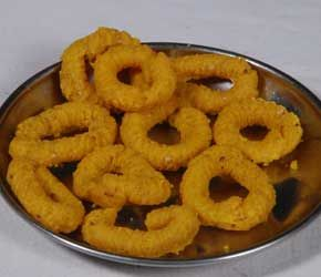 Chegodi from G. Pulla Reddy Sweets is a popular namkeen. It is very popular tea time snacks. It is also widely consumed during festivals such as Diwali, Dushera, Rakshabandhan, Holi and Ugadi, along with sweets. It is also a very popular home and office party menu order chegodi online @ http://www.mithai4all.com/product/G%5E-Pulla-Reddy-Sweets,-Hyderabad/Hyderabad/Chegodi/636.aspx