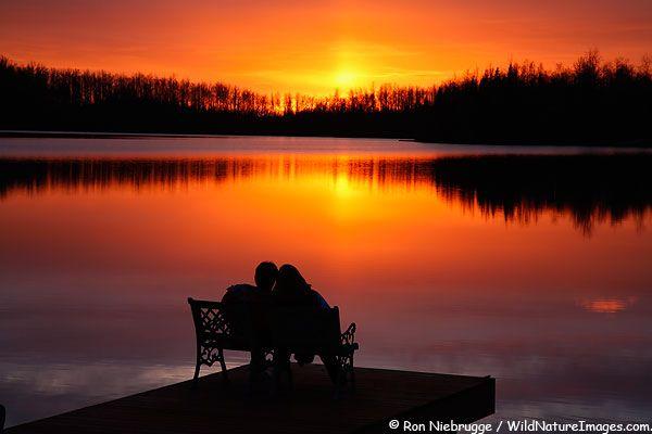 Finger Lake Sunset, Wasilla, Alaska. Another place I'd ...