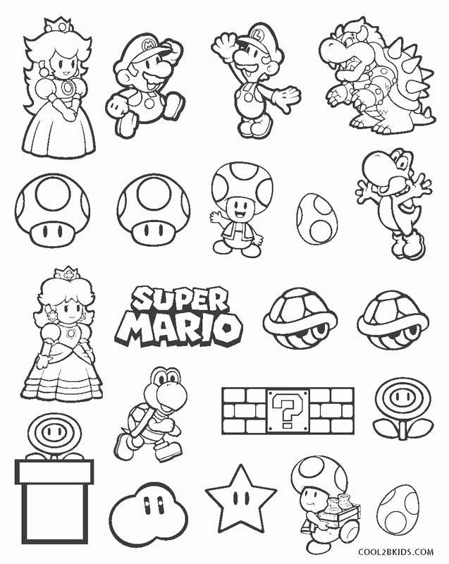Super Mario Printable Coloring Pages Cinebrique