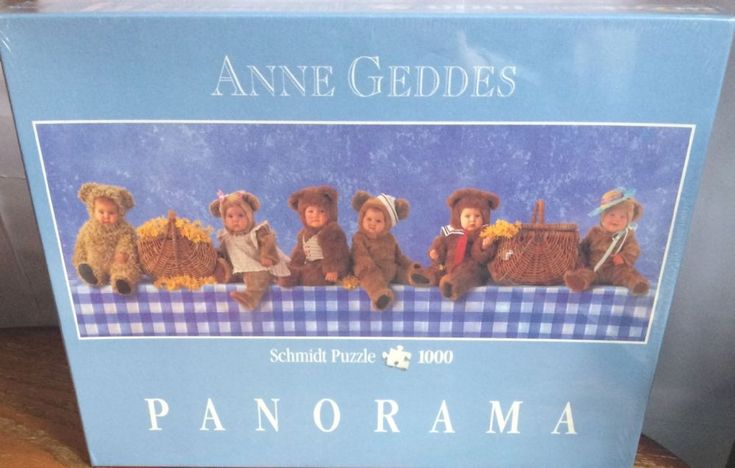 Brand New and Sealed Anne Geddes 1000 Piece Panorama Jigsaw Puzzle made by Schmidt Puzzle This stunning jigsaw depicts the most beautiful Teddy Bears