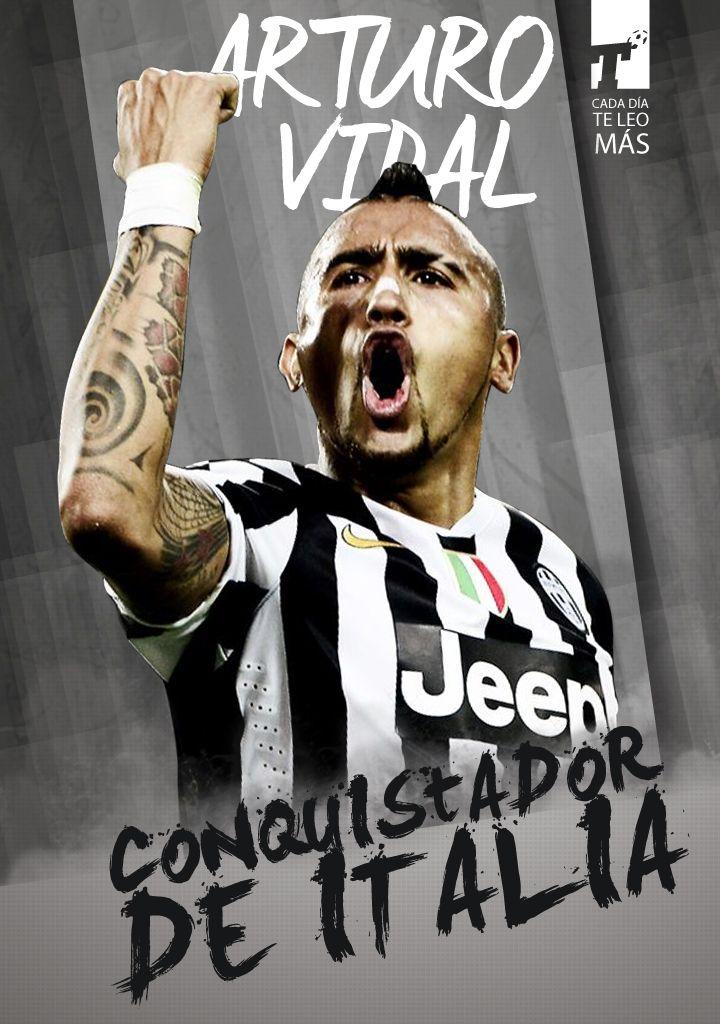 ¡#Juventus le ganó 1-0 a #Sampdoria con un gol del Rey Arturo #Vidal y celebra su 4° Scudetto consecutivo!  www.titular.cl