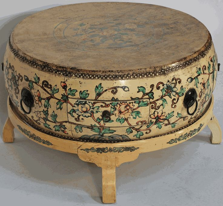 Asian Furniture Asian Inspired Drum Coffee Table With Stand From China