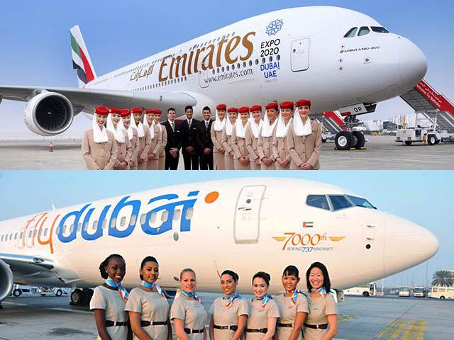 Vers une fusion entre Emirates Airlines et la low cost Flydubai ?