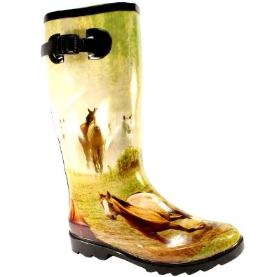 Womens #Festival Wellies Rain Snow Boots: Amazon.co.uk: Shoes & Accessories...is it wrong I want ones with ponies on? not just to wear them whilst with ponies?...probably but then I don't want to be right