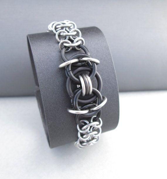 Unisex Bracelet, Chainmaille Bracelet, Stainless Steel Jewelry, Chunky Bracelet, Toggle Bracelet, Chainmail Jewelry, Thick Chain Bracelet