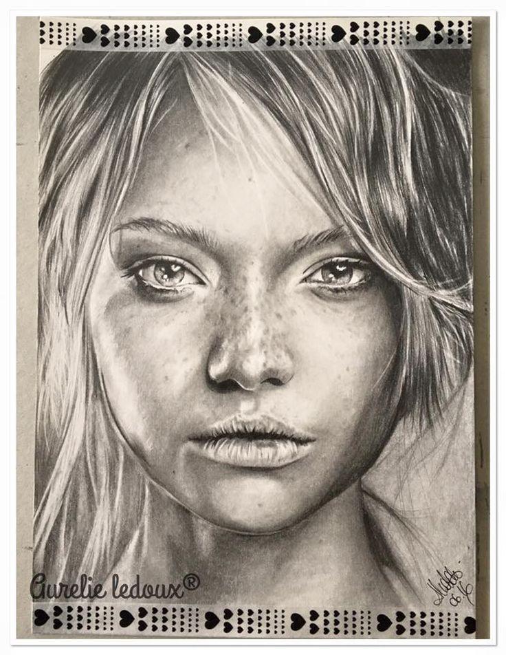 portrait au crayon graphite de °°Regard Bohème°°