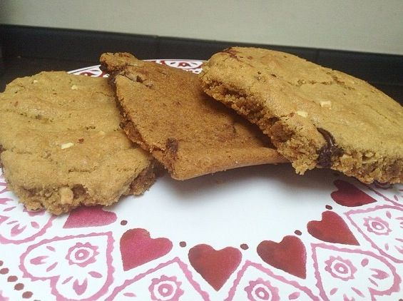 peanut butter and chocolate cookies • Tanya Burr's recipe