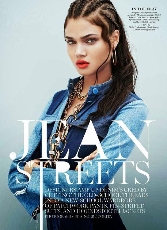 Marie Claire   November 2013 + Jean Streets   Photography by Aingeru Zorita   Model Daniela Braga