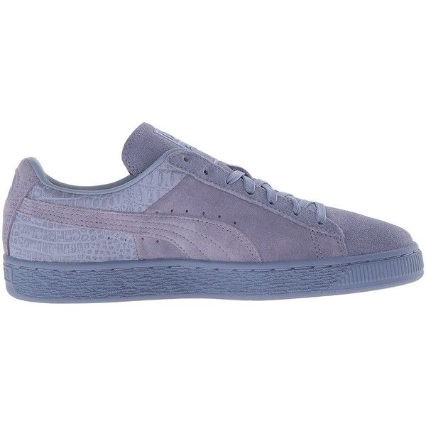 Amazon.com | PUMA Women's Suede Classic Emboss Wn's Fashion Sneaker |... (57 AUD) ❤ liked on Polyvore featuring shoes, sneakers, suede shoes, suede leather shoes, suede trainers and suede sneakers