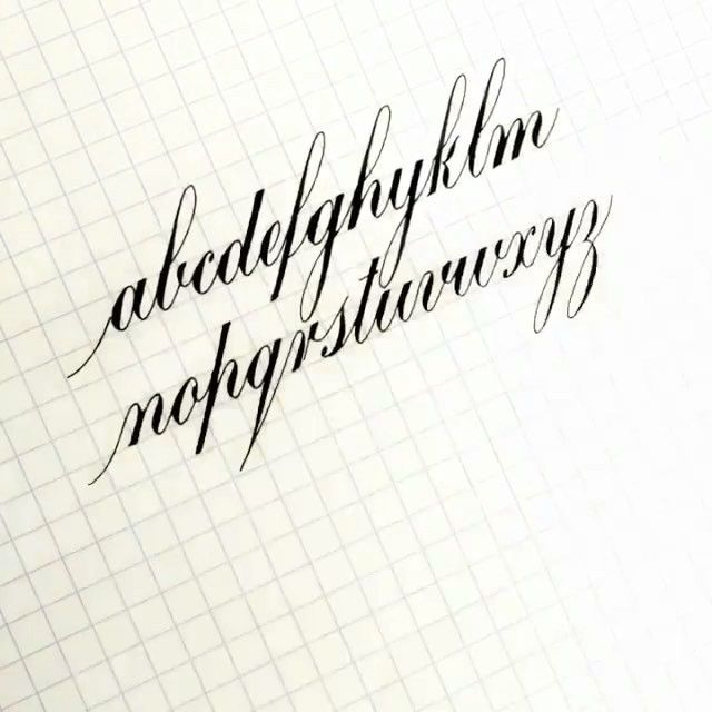 17 Best Ideas About Copperplate Calligraphy On Pinterest