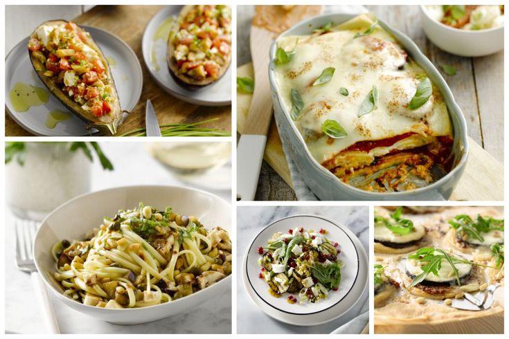 Aubergine is een ster in de mediterrane keuken, en ideaal om vegetarische gerechten mee te maken. Een lijstje met 5 overheerlijke zuiderse veggie auberginegerechten.
