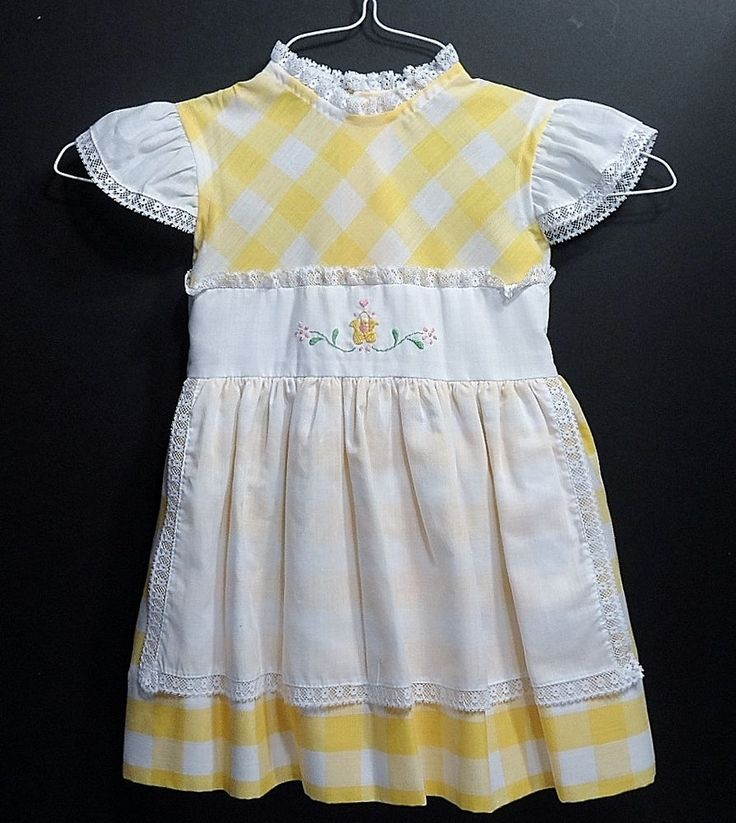 Vintage Baylis Brothers Dress Children Girls Size 5 Yellow 1950s 1960s  | Clothing, Shoes & Accessories, Vintage, Children's Vintage Clothing | eBay!