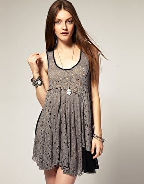Free People Web Lace Double Layer Dress 'worn in many episodes""